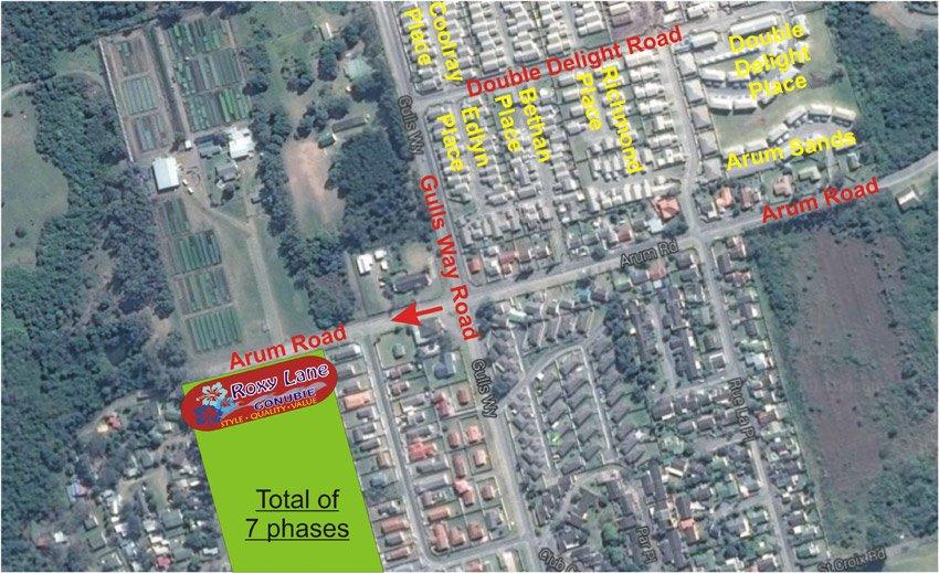 Aerial View Of The Roxy Lane Development